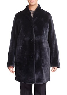 Marina Rinaldi, Plus Size Reversible Shearling Coat