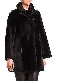 Marina Rinaldi, Plus Size Reversible Shearling Coat