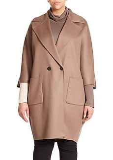 Marina Rinaldi, Plus Size Taso Oversized Double-Face Wool Coat