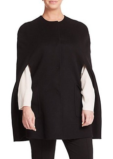 Marina Rinaldi, Plus Size Two-Pocket Wool Cape