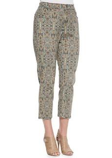 Marina Rinaldi Ricco Printed Skinny-Leg Pants, Women's