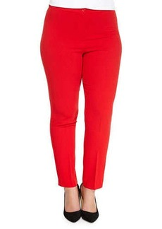 Marina Rinaldi Riflesso Slim Pants, Red, Women's