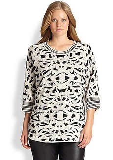 Marina Rinaldi, Sizes 14-24 Ascoli Printed Sweater