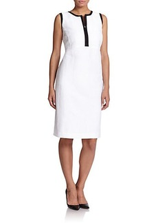 Marina Rinaldi, Sizes 14-24 Contrast-Trim Shift Dress