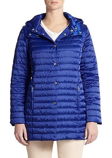 Marina Rinaldi, Sizes 14-24 Convertible Quilted Puffer Jacket