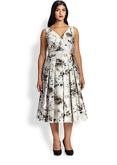 Marina Rinaldi, Sizes 14-24 Dieresi Floral-Print Dress