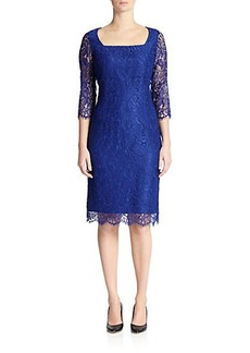 Marina Rinaldi, Sizes 14-24 Dolcezza Lace Sheath Dress