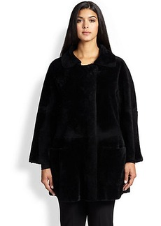 Marina Rinaldi, Sizes 14-24 Eden Shearling Coat