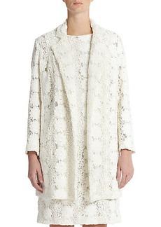 Marina Rinaldi, Sizes 14-24 Embroidered Lace Coat