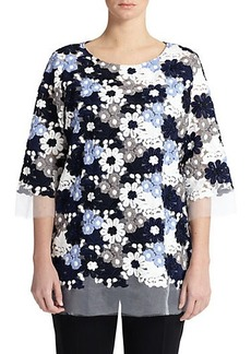 Marina Rinaldi, Sizes 14-24 Embroidered Organza Tunic