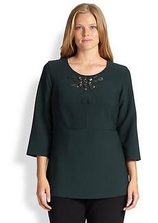 Marina Rinaldi, Sizes 14-24 Fedel Bi-Stretch Embellished Tunic