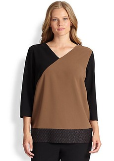 Marina Rinaldi, Sizes 14-24 Fortuna Colorblock Blouse