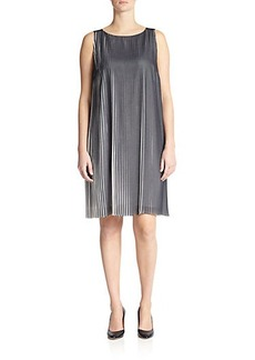 Marina Rinaldi, Sizes 14-24 Georgette Pleated Dress