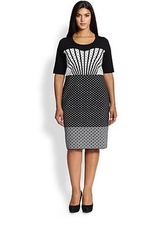 Marina Rinaldi, Sizes 14-24 Gigi Knit Dress