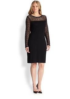Marina Rinaldi, Sizes 14-24 Gio Illusion-Lace Dress