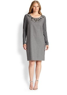 Marina Rinaldi, Sizes 14-24 Gioiello Knit Dress