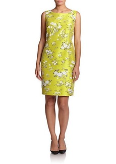 Marina Rinaldi, Sizes 14-24 Jacquard Floral-Print Dress