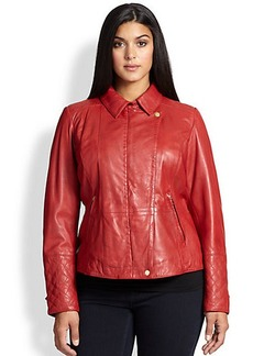 Marina Rinaldi, Sizes 14-24 Leather Edonista Jacket