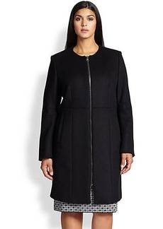 Marina Rinaldi, Sizes 14-24 Naturale Wool-Blend Coat