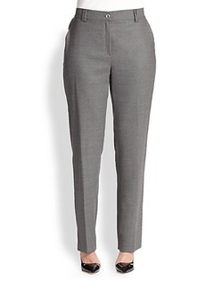 Marina Rinaldi, Sizes 14-24 Recanati Stretch Flannel Pants
