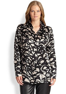 Marina Rinaldi, Sizes 14-24 Silk Battigia Blouse