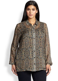 Marina Rinaldi, Sizes 14-24 Silk Brioso Printed Shirt