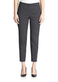 Marina Rinaldi, Sizes 14-24 Stretch Jacquard Printed Pants