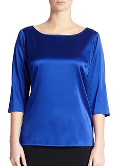 Marina Rinaldi, Sizes 14-24 Stretch Silk Blouse