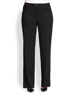 Marina Rinaldi, Sizes 14-24 Stretch Wool Riolo Pants