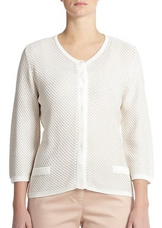 Marina Rinaldi, Sizes 14-24 Textured Boxy Cardigan