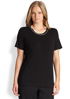 Marina Rinaldi, Sizes 14-24 Verbo Embellished Jersey Top