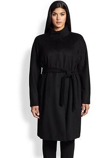Marina Rinaldi, Sizes 14-24 Wool Tesoro Belted Coat