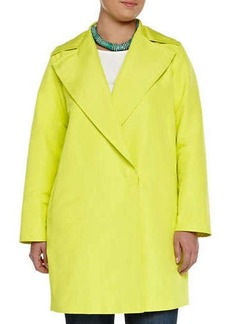 Marina Rinaldi Tabares Double-Breasted Faille Overcoat