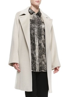 Marina Rinaldi Tallero Wool-Alpaca Long-Sleeve Coat, Women's