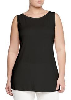 Marina Rinaldi Zampillo Sleeveless Jersey Top, Black, Women's