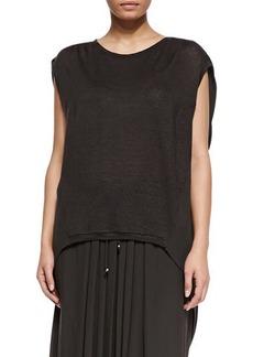 Marina Rinaldi Zigzag Jersey Asymmetric Top, Women's