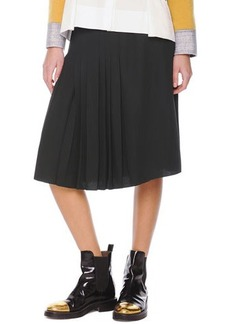 Marni Accordion-Pleat Crepe Skirt