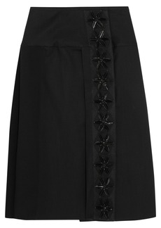 Marni Appliquéd cotton-blend twill skirt