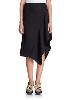 Marni Asymmetrical Ruffle Skirt