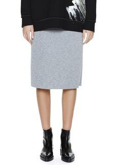 Marni Back-Flounce Bonded Jersey Skirt