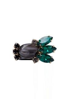 Marni Black Resin & Horn Ring