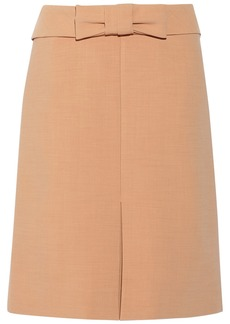 Marni Bow-embellished crepe skirt