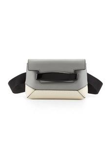 Marni Bridge Colorblock Belt Bag, Gray/White