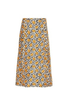 Marni Buttercup-print midi skirt