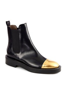 Marni Chelsea Leather Cap-Toe Ankle Boots