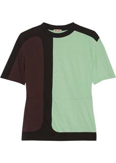 Marni Color-block cotton-jersey top
