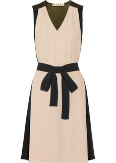 Marni Color-block crepe dress