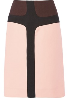 Marni Color-block silk and wool-blend skirt