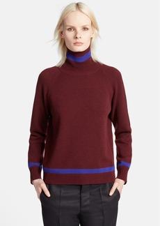Marni Colorblock Cashmere Turtleneck Sweater