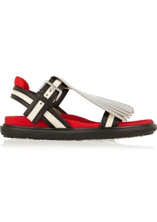 Marni Convertible fringed leather sandals